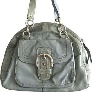 COACH Blue Patent Tote Bag